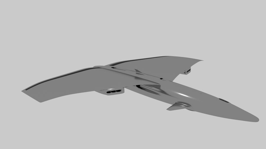 drone future royalty-free 3d model - Preview no. 1