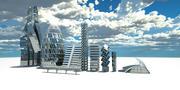 Futuristic buildings 3d model