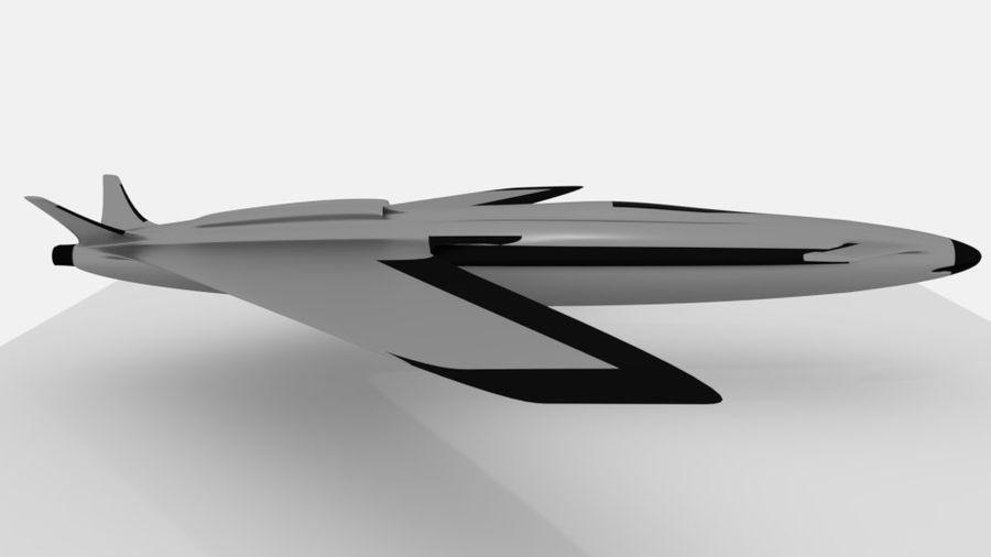 aircraft combat royalty-free 3d model - Preview no. 4