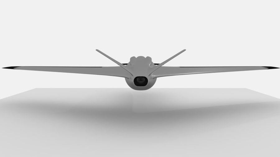 aircraft combat royalty-free 3d model - Preview no. 2