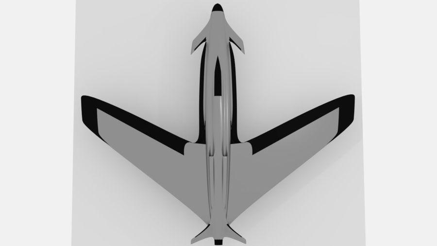 aircraft combat royalty-free 3d model - Preview no. 7