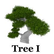 Trädpaket 3d model