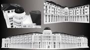 3d baskı için bina 3d model