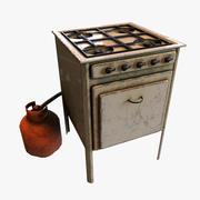 Cucina stufa 3d model