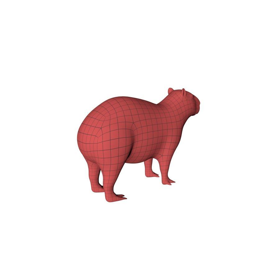 Capybara base mesh royalty-free 3d model - Preview no. 6