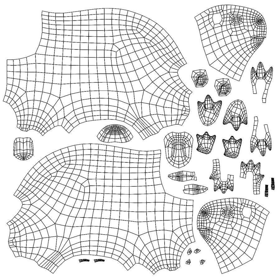 Capybara base mesh royalty-free 3d model - Preview no. 7