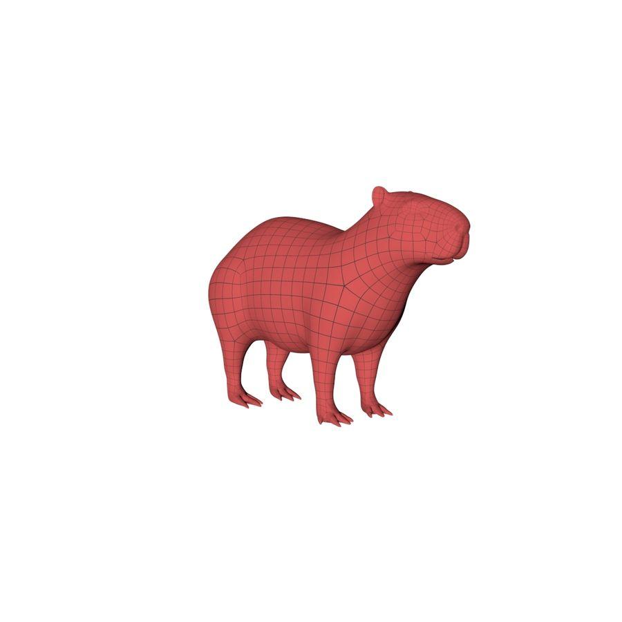 Capybara base mesh royalty-free 3d model - Preview no. 2