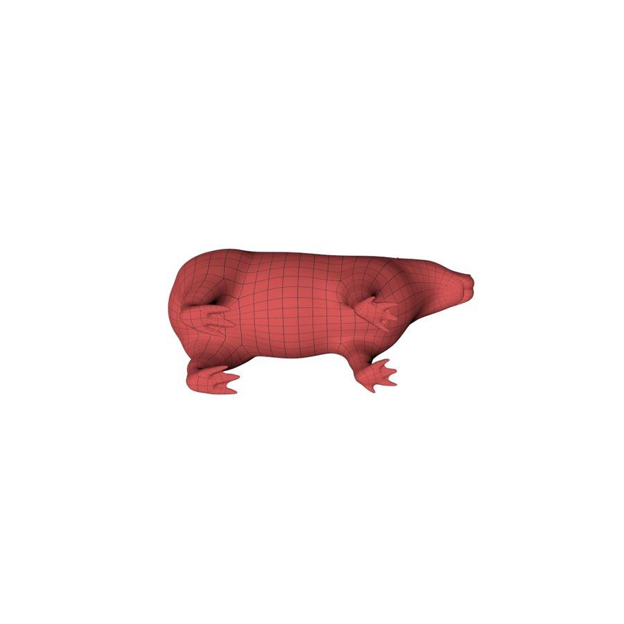 Capybara base mesh royalty-free 3d model - Preview no. 5