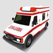 トゥーン救急車 3d model