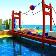 Low-Poly city 3d model