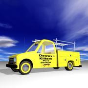 Toon Truck Utility 3d model
