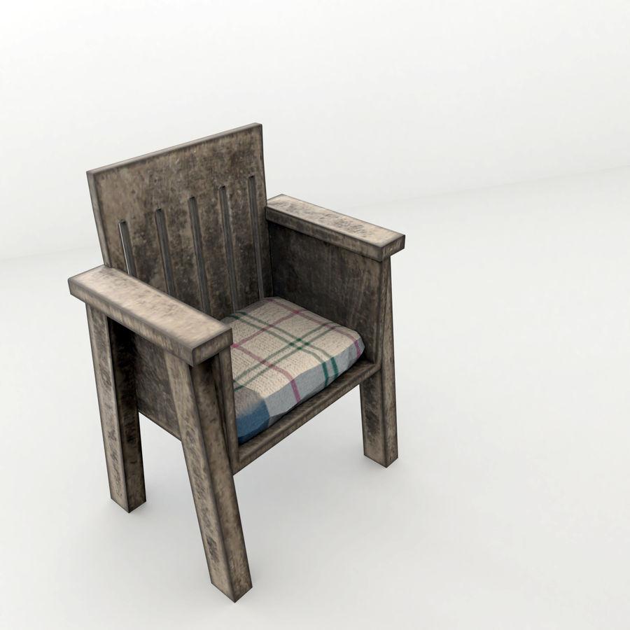 Collection de meubles en bois royalty-free 3d model - Preview no. 6