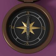 стильный компас 3d model
