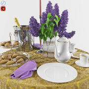 Set Dinner Table_2 3d model