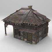 Fantazja średniowiecznego domu 04 3d model