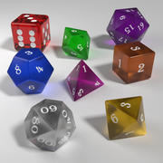 Role Playing Glass Dice Collection 3d model