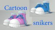 Cartoon_snikers 3d model