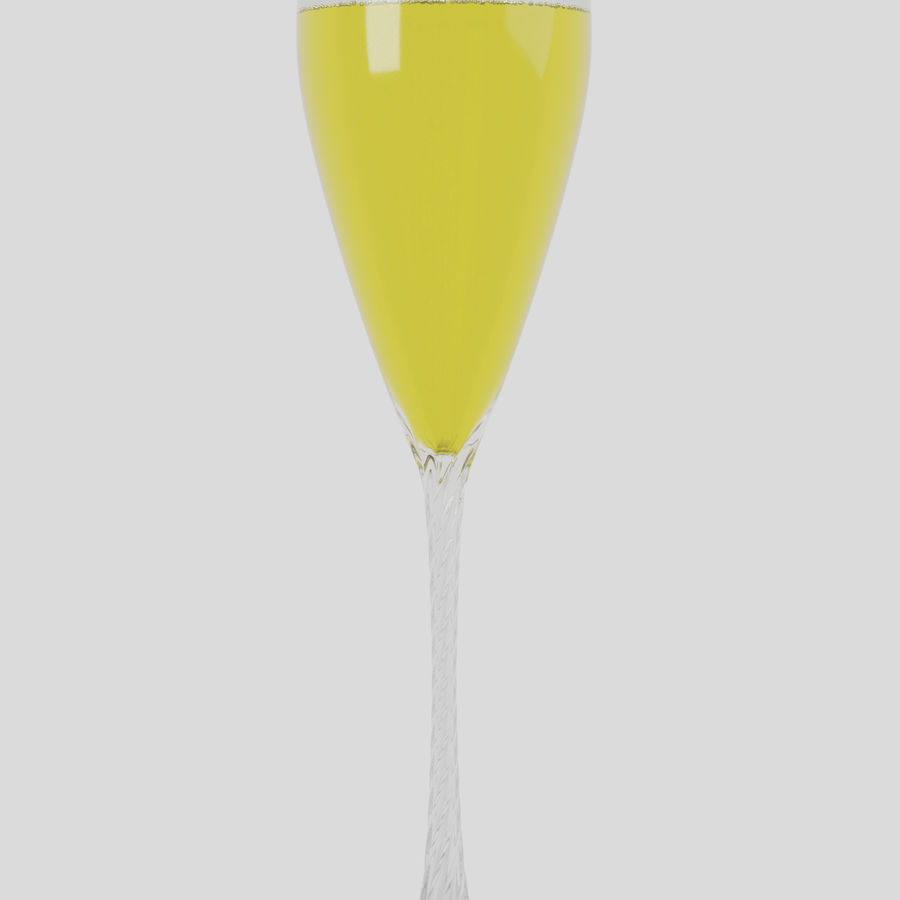 シャンパンフルート royalty-free 3d model - Preview no. 3