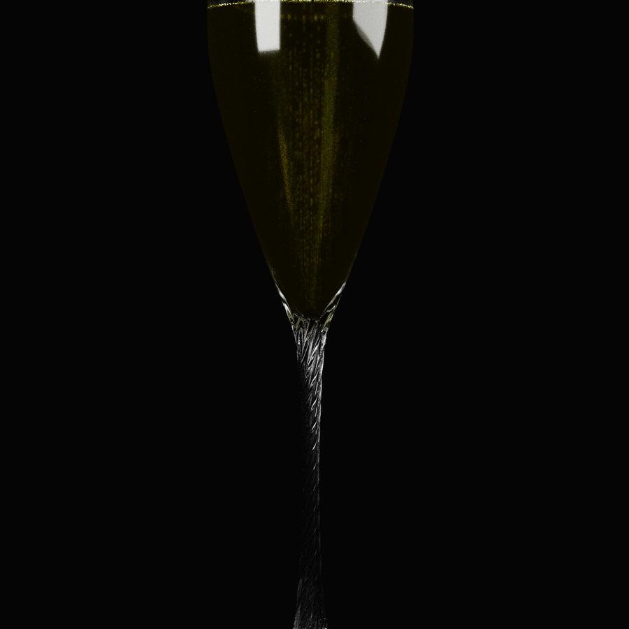 シャンパンフルート royalty-free 3d model - Preview no. 4