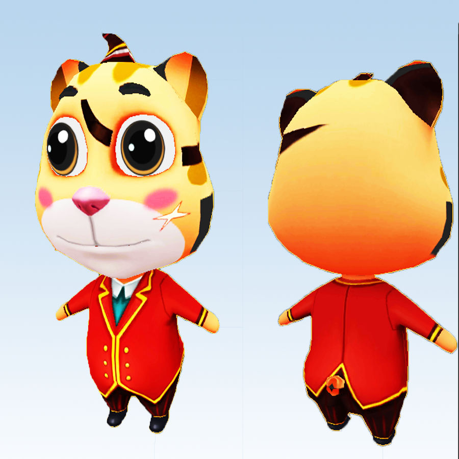 Cat 3D Character Model royalty-free 3d model - Preview no. 1
