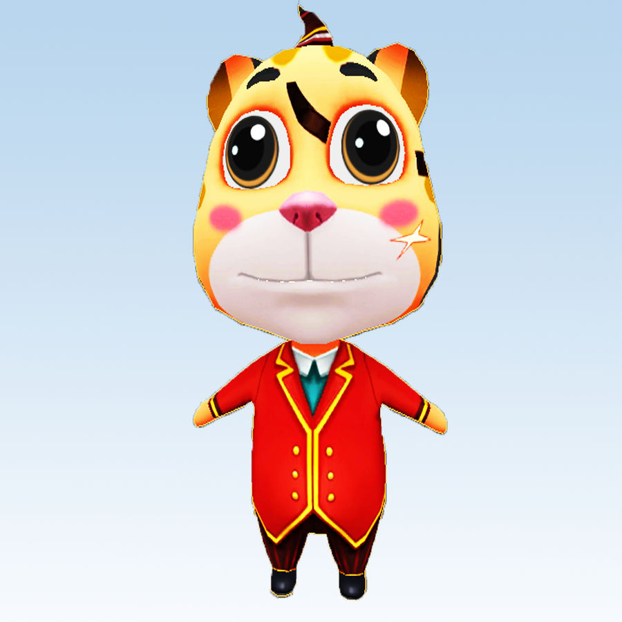 Cat 3D Character Model royalty-free 3d model - Preview no. 2