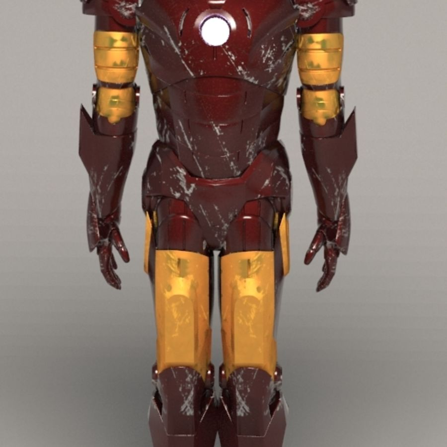 Iron Man royalty-free 3d model - Preview no. 2
