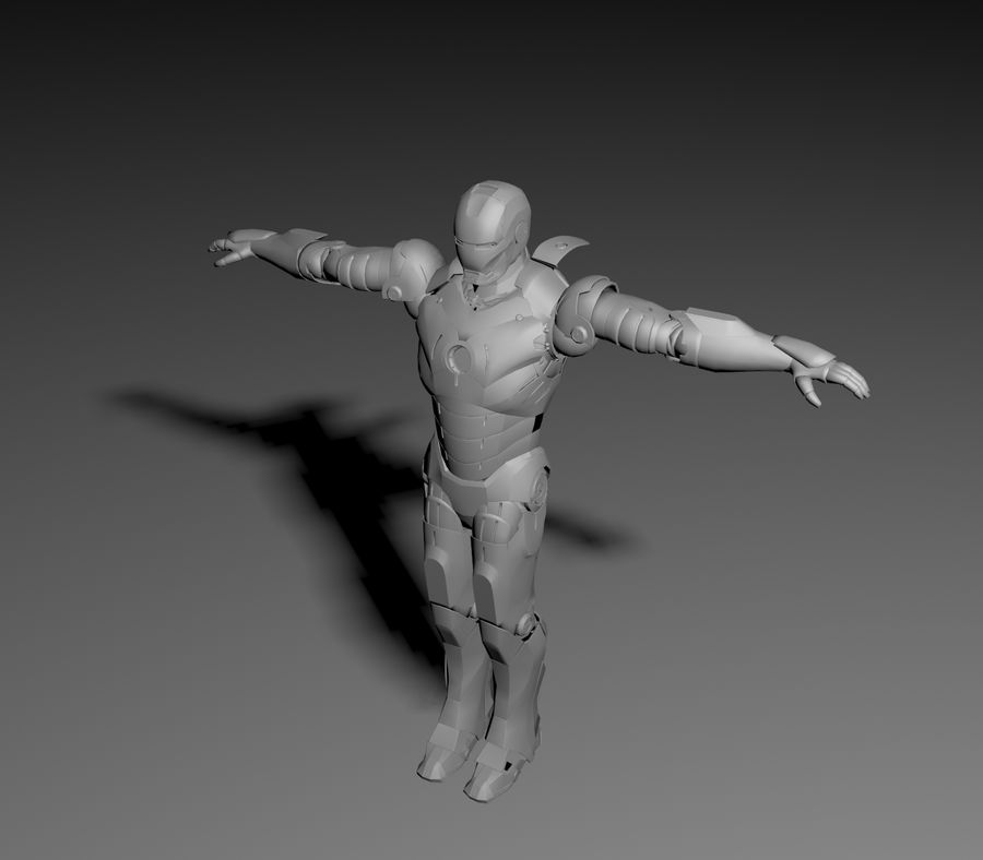 Iron Man royalty-free 3d model - Preview no. 4