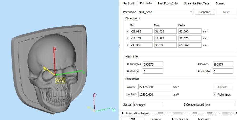 Crâne logo (1) royalty-free 3d model - Preview no. 4