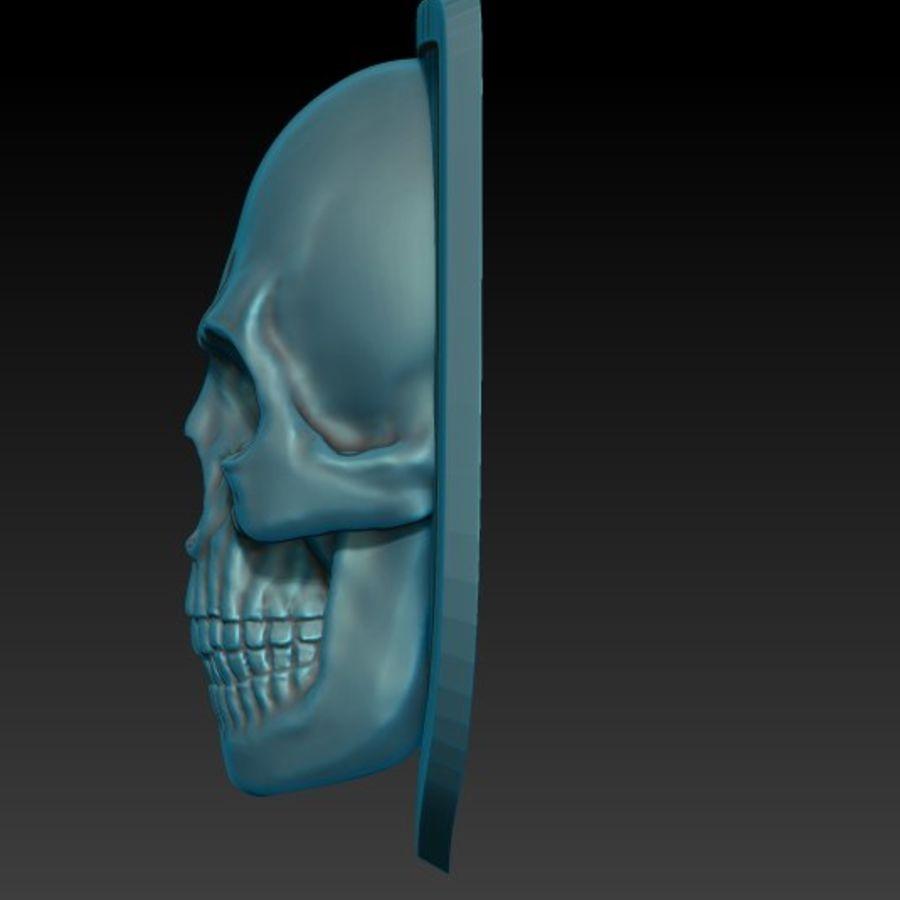 Crâne logo (1) royalty-free 3d model - Preview no. 3