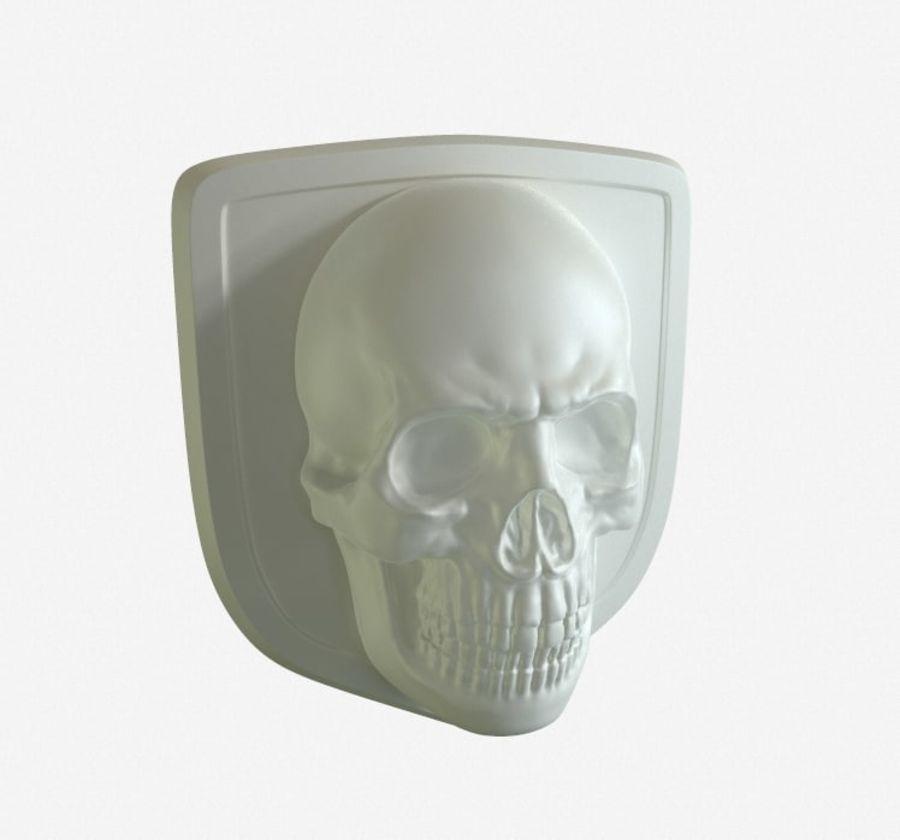 Crâne logo (1) royalty-free 3d model - Preview no. 1