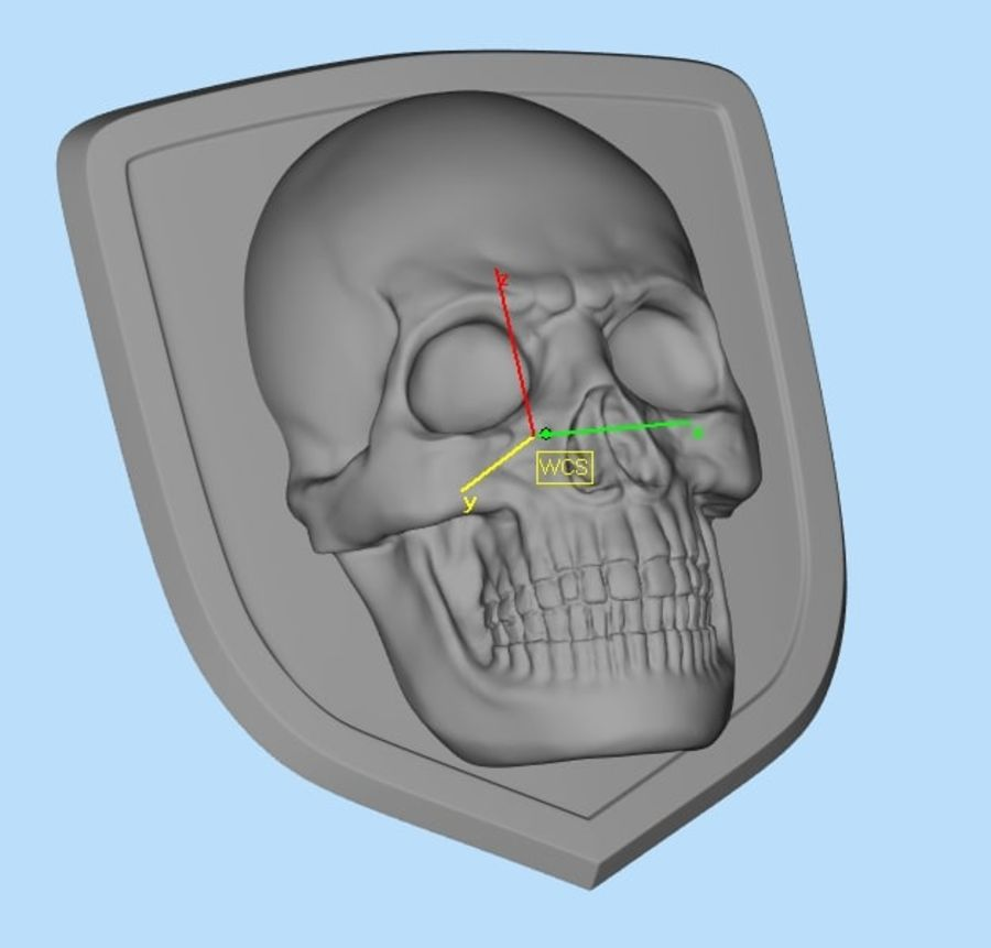 Crâne logo (1) royalty-free 3d model - Preview no. 5