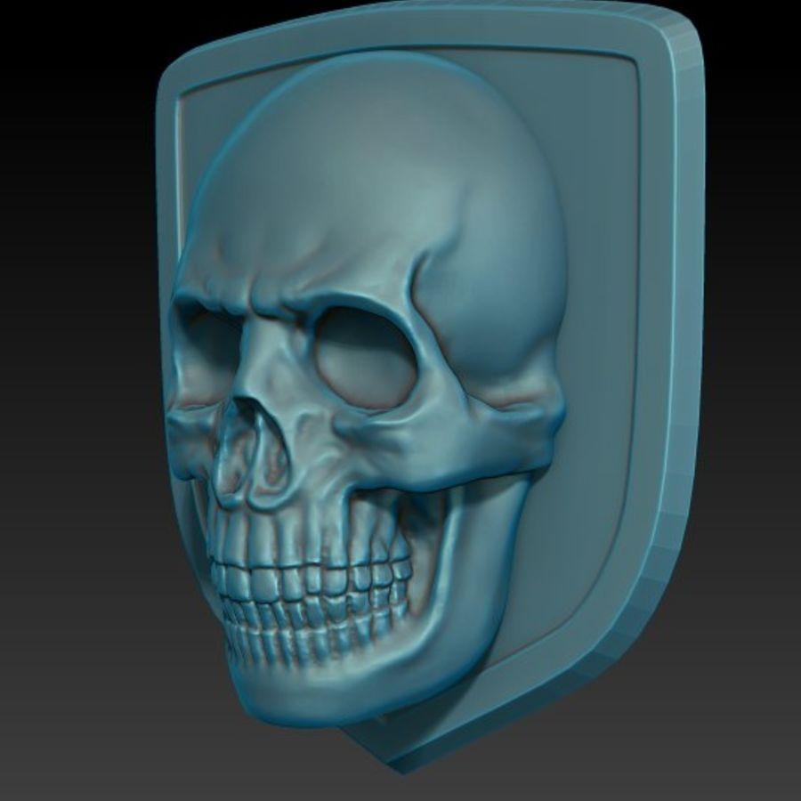 Crâne logo (1) royalty-free 3d model - Preview no. 2