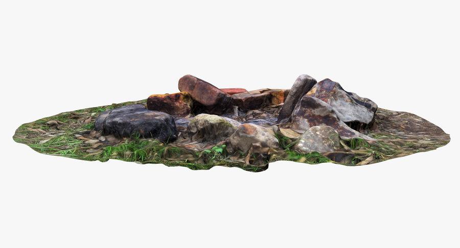 キャンプ暖炉2 royalty-free 3d model - Preview no. 3