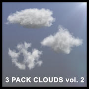 3D Clouds - 3 PACK - vol2 3d model