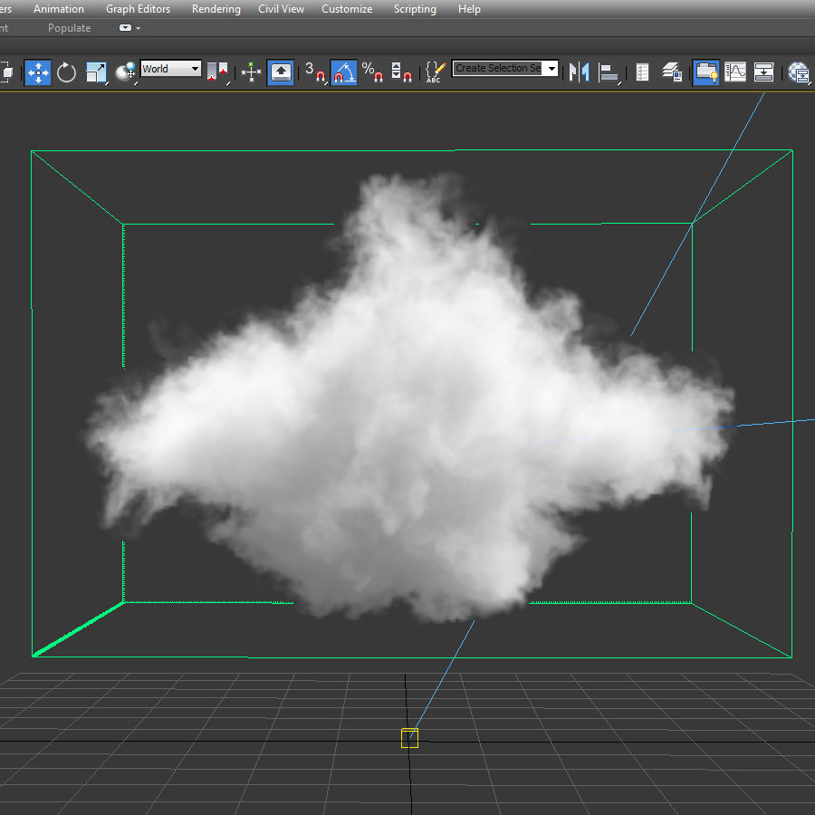 3D Clouds - 3 PACK - vol2 royalty-free 3d model - Preview no. 6