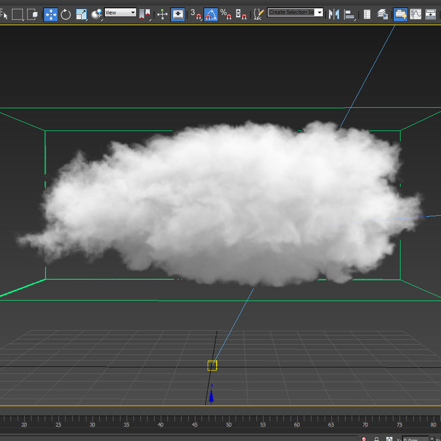 3D Clouds - 3 PACK - vol2 royalty-free 3d model - Preview no. 3
