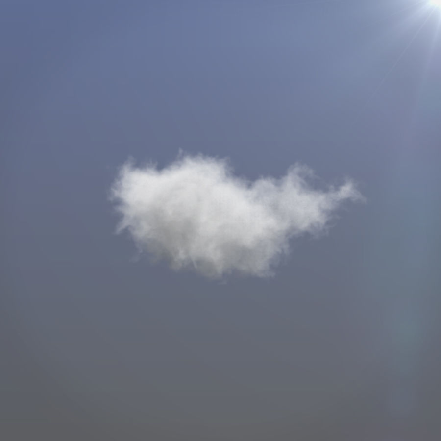 3D Clouds - 3 PACK - vol3 royalty-free 3d model - Preview no. 2
