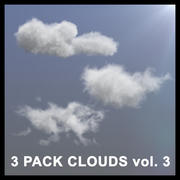 Nuages 3D - PACK DE 3 - vol3 3d model