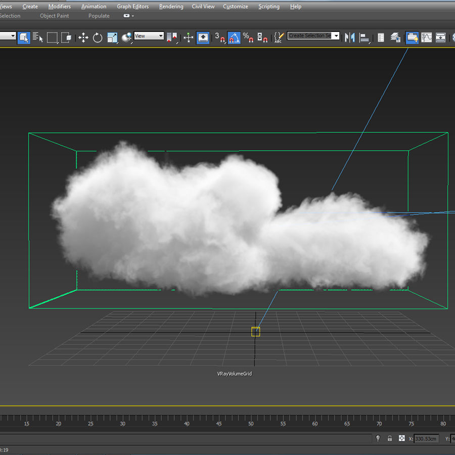 3D Clouds - 3 PACK - vol3 royalty-free 3d model - Preview no. 6