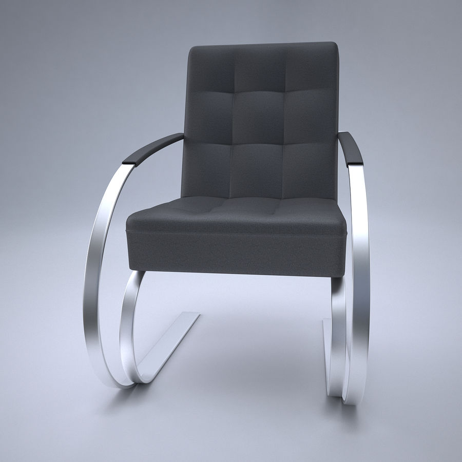 Design armchair one royalty-free 3d model - Preview no. 2