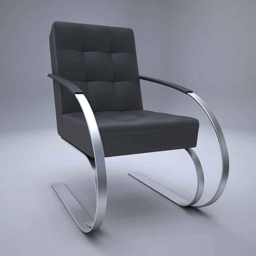 Design armchair one royalty-free 3d model - Preview no. 3