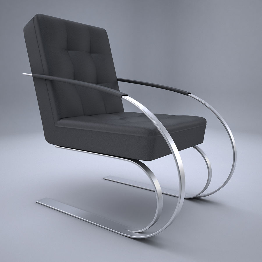 Design armchair one royalty-free 3d model - Preview no. 4