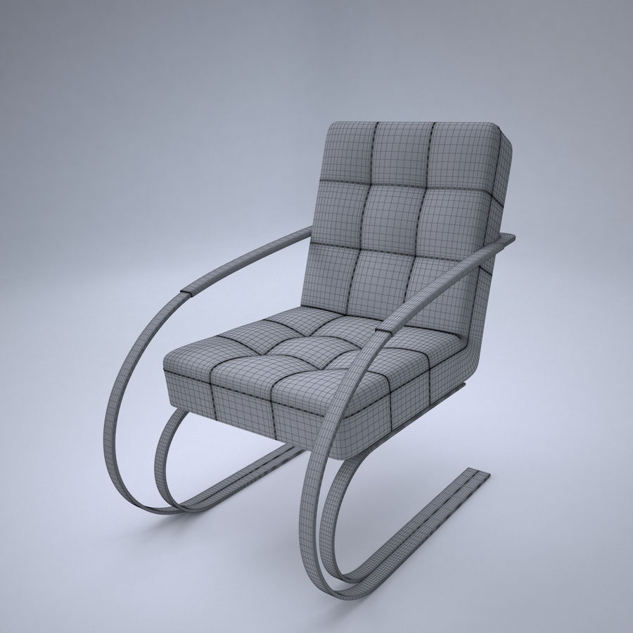 Design armchair one royalty-free 3d model - Preview no. 9