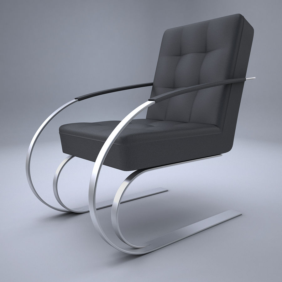 Design armchair one royalty-free 3d model - Preview no. 1