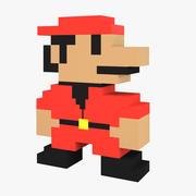 8-Bit Character 3d model