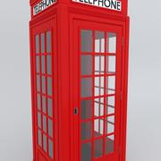 English Telephone Booth 3d model