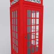 Cabine de telefone em inglês 3d model