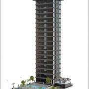 Skyskrapa-byggnad 3d model