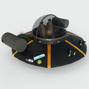 Rick and Morty Spaceship 3d model