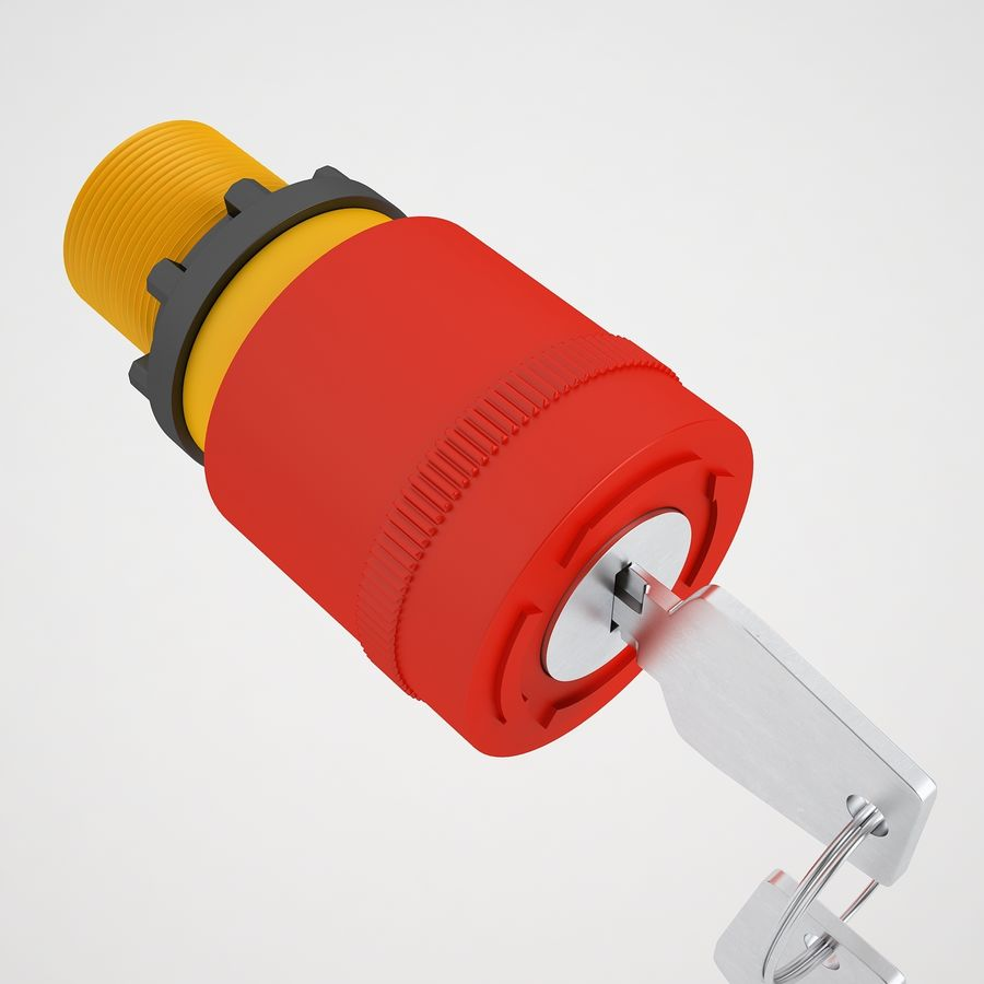 Emergency Stop Key Reset 01 royalty-free 3d model - Preview no. 17
